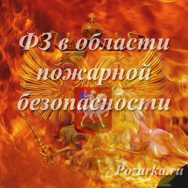 Федеральные законы РФ в области пожарной безопасности