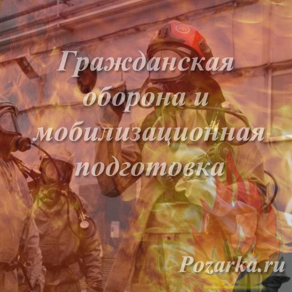 Гражданская оборона и мобилизационная подготовка
